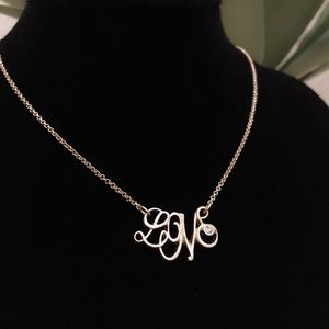"LIA SOPHIA ""LOVE"" gold tone necklace ❤️ NEW"